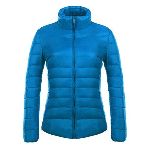 Women Down Jacket Winter Coat White Duck Down Padded Outerwear Hoodie Coats light warm comfortable windproof waterproof 12 Colors S-3XL Kootk Blue