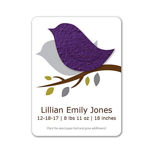 Purple Birth Announcements - 5