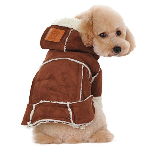 1950s Costumes Ebay (Hihihappy Lovely Clothes,Winter Dogs Jacket Warm Coat for Pets Small Dog Cat Clothes Dog Shirt Costume (M, Brown))