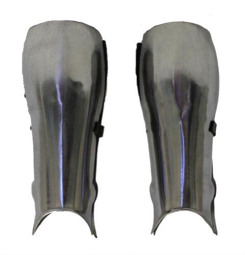 RedSkyTrader Mens Steel Short Leg Medieval Armor One Size Fits Most Metallic by RedSkyTrader