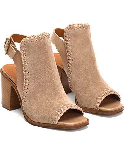 Frye 3479974 Mujeres Charlize Shield Wedge Sandal Ash