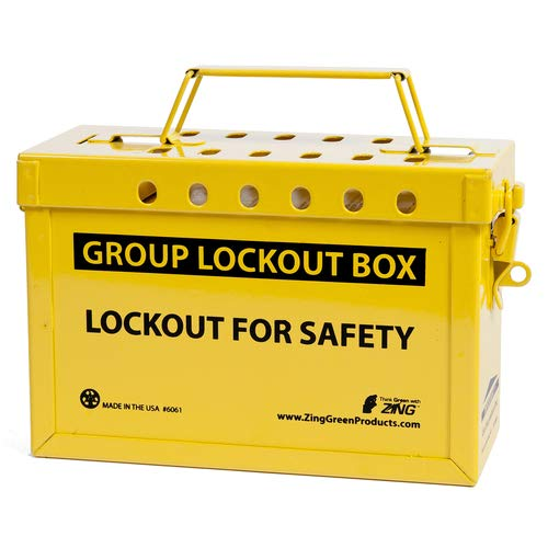 ZING 6061Y RecycLockout Group Lockout Box (Yellow (2 Pack)
