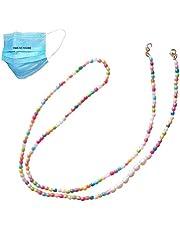 Sundysh Mask Chain Lanyard Strap Extenders,Mask Holder Retainer Beaded Necklace, Mask Hanger for Women Girls