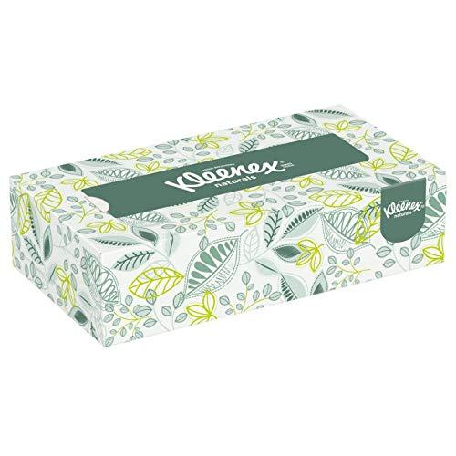 Kleenex 21601 Naturals Facial Tissue, 2-Ply, White, 125 per Box (Case of 48 ()
