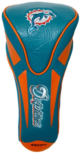Team Golf NFL Miami Dolphins Golf Club Single Apex Driver Headcover, Fits All Oversized Clubs, Truly Sleek Design