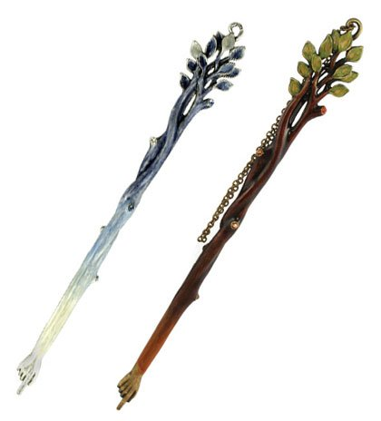 Tree of Life Torah Pointer, Color Blue/Silver