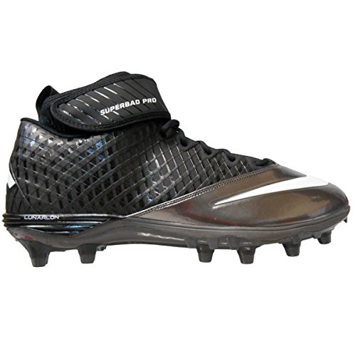Design Nike Football Cleats - Nike Men's Lunar Super Bad Pro TD Football Cleats (Size 12.5, Black/Metallic Silver-Tornado)