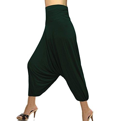 Couleur Pantalon Mode Élastique Harem Coton Wiast Unique Bonneterie 7wxq1w0R