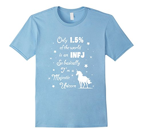 Mens Only 1.5 percent of the World is an INFJ fun Unicorn tshirt 2XL Baby - Guys For Personality Quiz