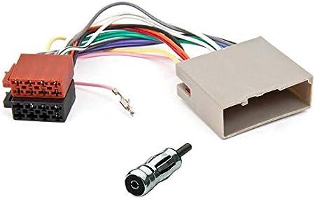 Cavo connettore adattatore ISO e antenna autoradio per Ford Fiesta