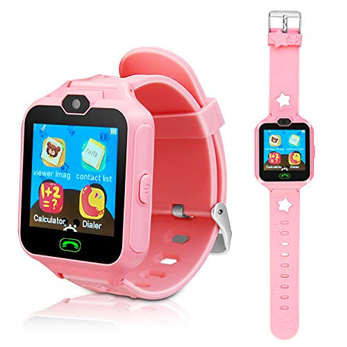 Kids Smart Cell Phone Watch,Smart Watch Phone for Boys Girls with SIM and SD Slot,Unlocked Waterproof SOS Phone Watch with Camera Games Touchscreen Children Cell Watch Holiday Birthday Gift (Cell Watch Phone Sprint)