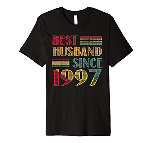 (Best Husband Since 1997 22nd Wedding Anniversary Premium T-Shirt)