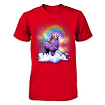 TeeCentury Unisex Rainbow Llama Cat Shirt Next Level - Unisex Fitted Tee