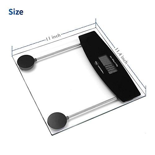 Digital Personal Bathroom Body Glass Weight Heath Fitness LCD Scale 400LB 180kG