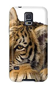 Fashion Tpu Case For Galaxy S5- Tiger Animal Tiger Defender Case Cover