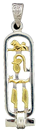 Sterling Silver Cartouche Pendant with