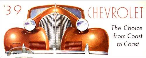 1939 CHEVROLET PASSENGER CAR DEALERSHIP SALES BROCHURE - CHEVY 39 ()