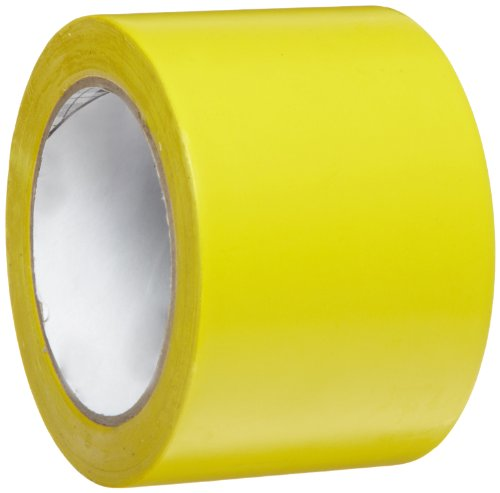 3M General Purpose Vinyl Tape 764 Yellow, 3 in x 36 yd 5.0 mil (Pack of 1)