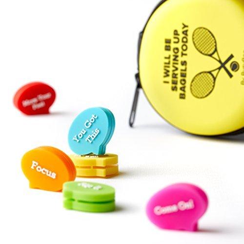 BusyBee Tennis Vibration Dampener In Fun Zipper Gift Pack