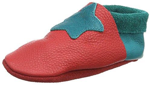 Pololo Kleiner Stern - Zapatilla de estar por casa Unisex niños Rojo - Rot (berry waikiki 234)