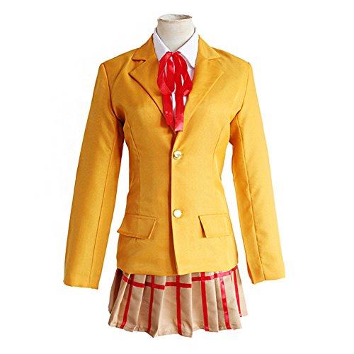 Mtxc Women's Prison School Cosplay Mari Kurihara Hachimitsu Academy Female School Uniform Size Large Yellow