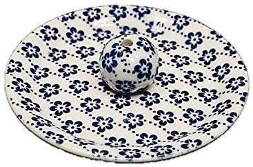 9-25 梅花 9cm香皿 お香立て お香たて 陶器 日本製 製造・直売品