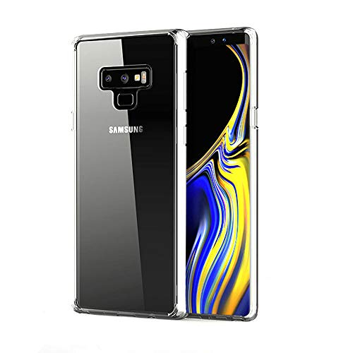 Marialove Galaxy Note 9 Case, Note 9 Case Clear, Ultra Slim Shockproof Galaxy Note 9 Case Hard PC Back with Flexible TPU Bumper Protective Phone Case Compatible with Samsung Galaxy Note 9