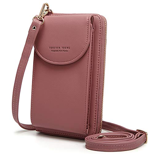 YAVCOOL Small Crossbody Bag Cellphone Purse Wallet with Credit Card Slots for Women Roomy Shoulder - Wallet Compact Clutch
