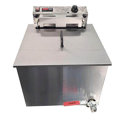 Paragon Snack Fryer Machine for Professional Concessionaires Requiring Commercial Quality & Construction 55 Pound Oil Capacity 3000 Watts Electric 240 Volt Requires 6-30 Receptacle
