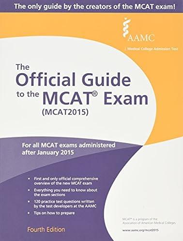 the official guide to the mcat exam mcat2015 9781577541332 rh amazon com 7 Moth MCAT 2015 Study Schedule New MCAT Scoring