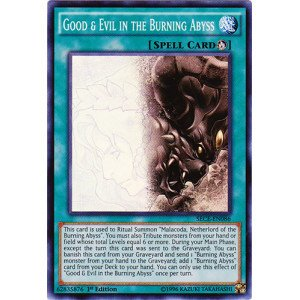 Yu-Gi-Oh! Good & Evil in the Burning Abyss (SECE-EN086) - Secrets of Eternity - 1st Edition - Super Rare