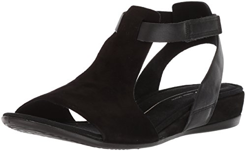 ECCO Women's Women's Touch 25 Ankle Sandal, Black/Black, 38 M EU (7-7.5 (Sandals Shoes Com)