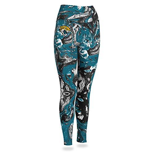 Zubaz NFL Jacksonville Jaguars Women's Swirl Leggings, Multicolor, Small