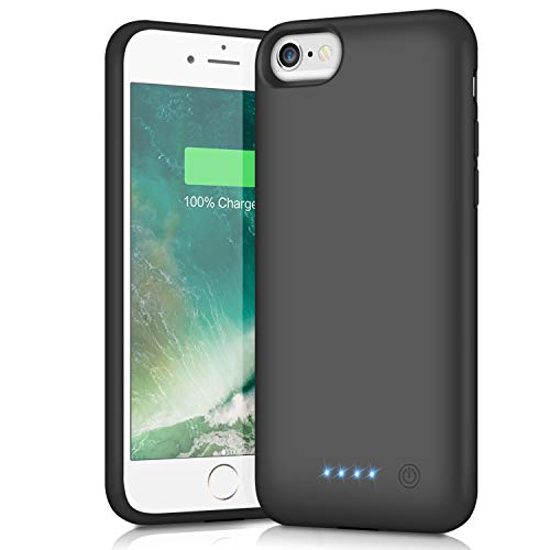 Battery Case for iPhone 6s/6, Xooparc 6000mah Protective Portable Charging Case Rechargeable Extended Battery Pack for Apple iPhone 6/6s(4.7') Backup Power Bank Cover (Black)