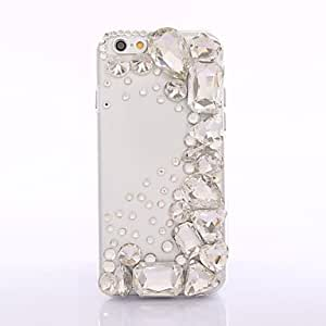WQQ New Arricval 2014 Fashhion Transparent Bling Crystal Rhinestones Back Cover Case for iPhone 6
