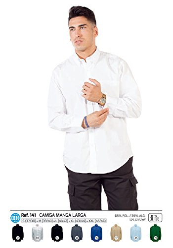 Hombre Camisa Manga Con Negro Larga Alta Bolsillo Calidad ZBBSzqnxr