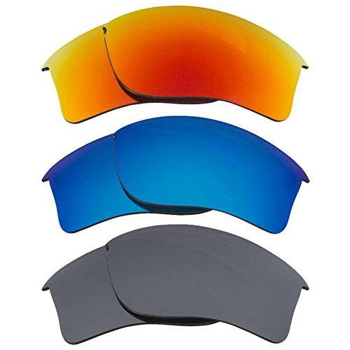 Best SEEK Replacement Lenses Oakley FLAK JACKET XLJ - Black Red - Oakley And Jacket Black Red Flak
