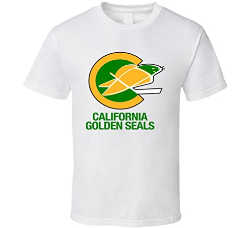 The Village T Shirt Shop California Golden Seals Hockey Team Retro Hockey T Shirt S White