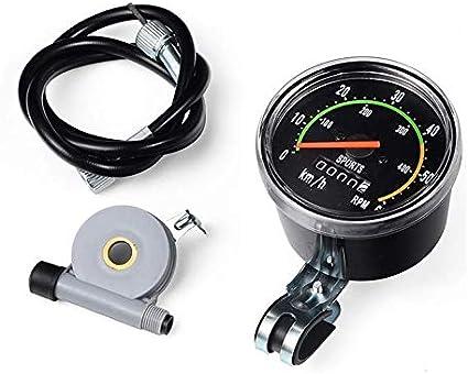 Mandalaa Bicycles Exercycle Cycling Universal Analog Mechanical Speedometer Gauge Resettable Odometer Bikes Equipment Speedometer