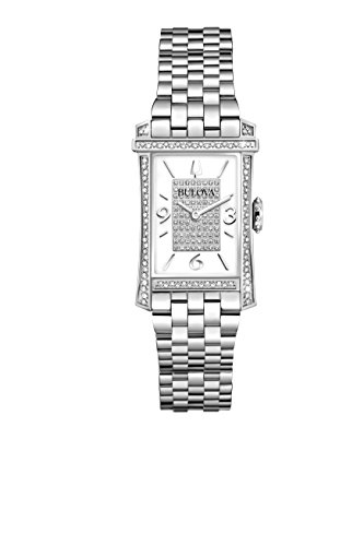 Diamonds Stainless Steel Case and Bracelet White Tone Dial