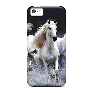 Durable Defender Case For Iphone 5c Tpu Cover(mystic Horses)