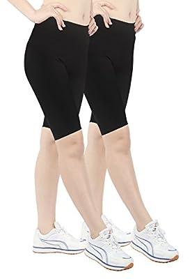 iLoveSIA 2Pack Women's Cotton Short Leggings