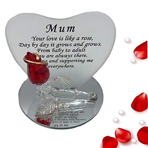 Mamá cristal rosa forma de corazón día de la madre regalos ...
