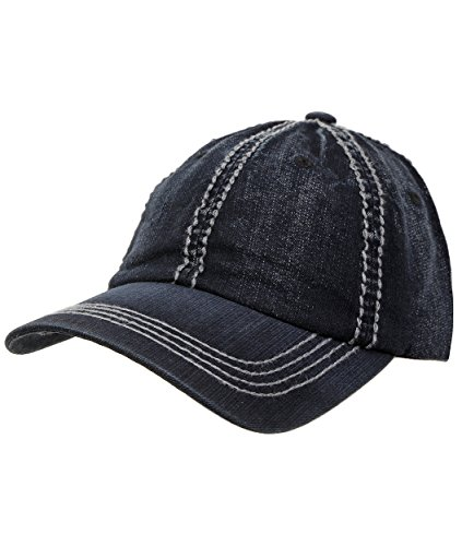 H-640107-02 Adjustable Denim Baseball Cap - Dark Denim