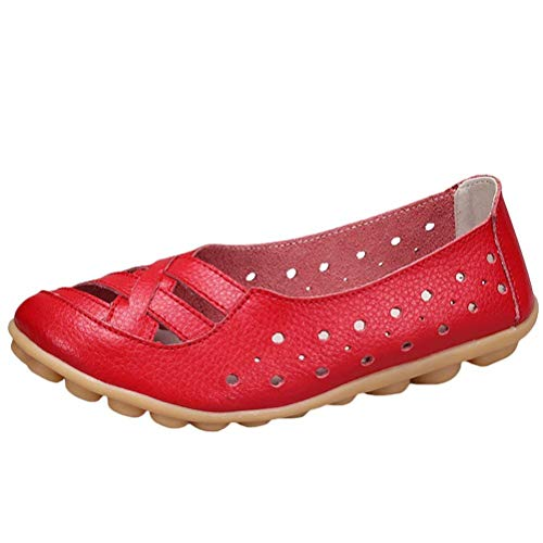 UK UK UK ONS 2 2 2 ZHRUI Flats Red Pelle Style Colore Slip Mocassini da in Dimensione Donna 3 2 Mocassini Sandali Nuovi 5 qw6qraHv