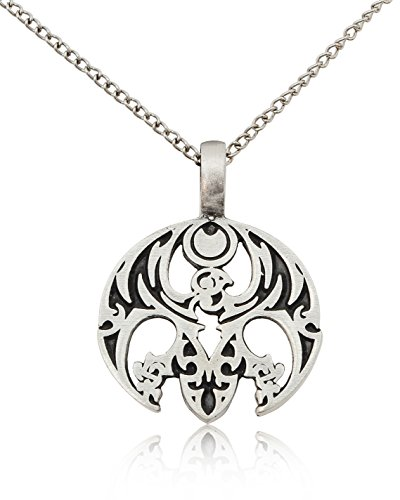 Vietguild Gothic Phoenix Bird Silver Pewter Charm Necklace Pendant Jewelry