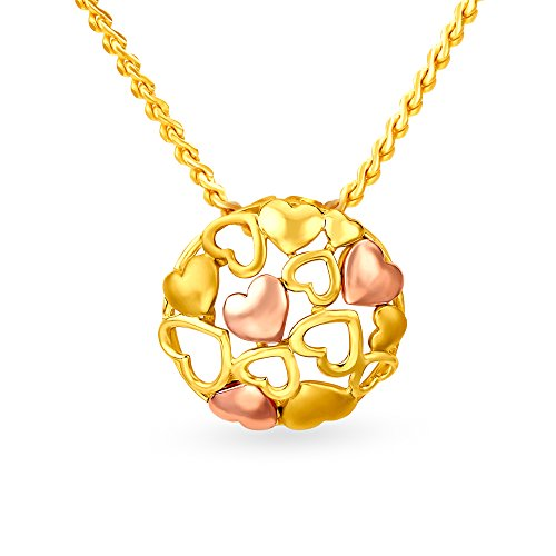 Mia by Tanishq 14KT Two Color Gold Pendant for Women