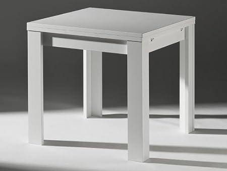 Tavolo Bianco 80x80 Allungabile.Tavolo Da Cucina Allungabile Bianco 80 X 80 Cm Amazon It Casa E