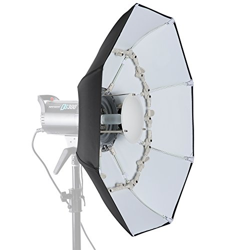 Octagonal Dish - Neewer 27.5 inches/70 centimeters Folding Beauty Dish Octagonal with Center Deflector Disc, Removable Front Diffuser and Bowens Speed Ring for Monolight Studio Flash in Portrait and Event Photography
