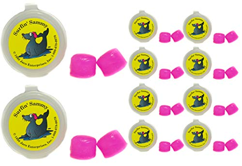 (Putty Buddies Ear Plugs 10-Pair Pack - Soft Silicone Ear Plugs for Swimming & Bathing - Invented by ENT Physician - Block Water - Premium Swimming Earplugs - Doctor Recommended (Magenta))